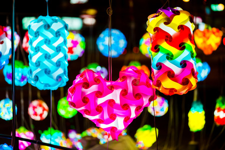 colorful lamps in modern style