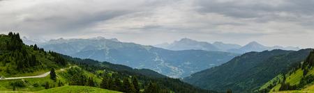 aletsch: mountain panorama from Switzerland Stock Photo