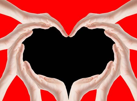 forme: Hands make heart shape