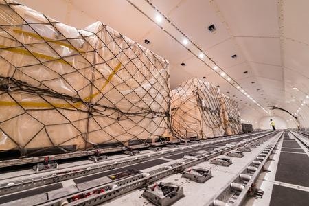luchtvracht vrachtschip Stockfoto