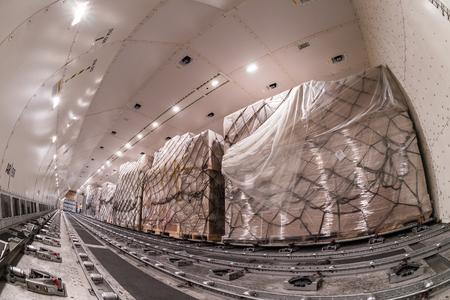 Innen Luftfracht Frachter