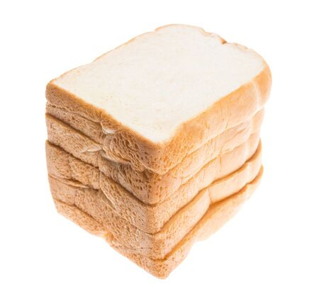 sliced: white bread, sliced bread isolated on white background Stock Photo