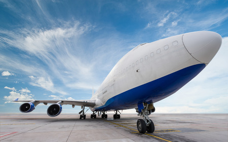 air cargo freighter with blue sky