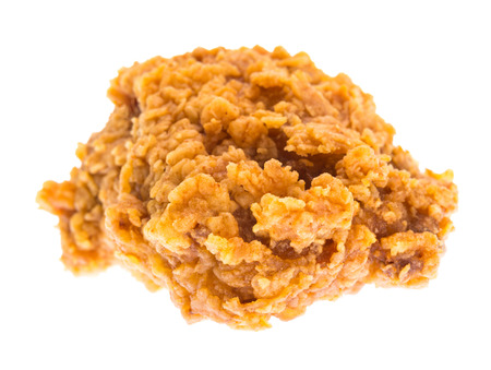 Fried chicken isolated on white background. Stock Photo