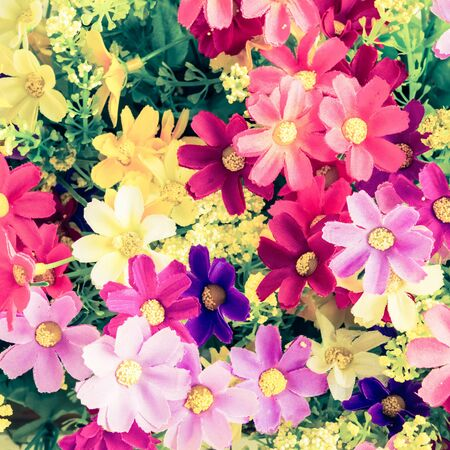 artificial flower - retro vintage filter effect Stock Photo