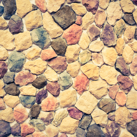 stone wall texture - retro vintage filter effect Stock Photo