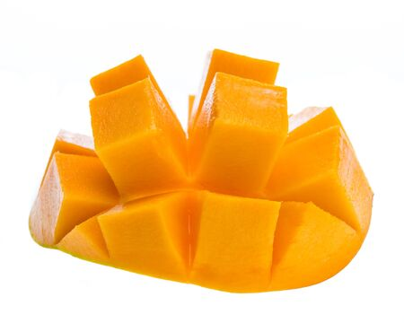 mango slice isolated on white background Stock Photo