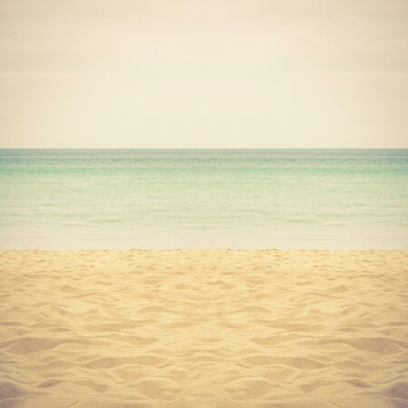 sand of beach Thailand sea - retro vintage filter effect Stock Photo