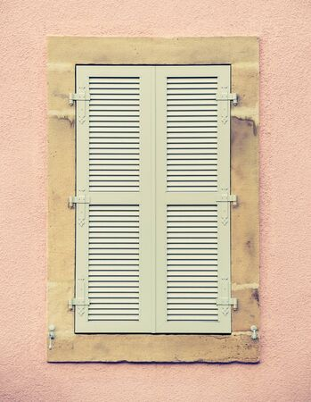 Traditional French window - retro vintage filter effect