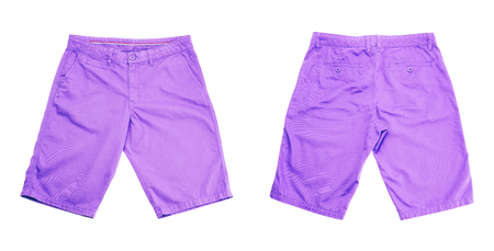 purple shorts on white background