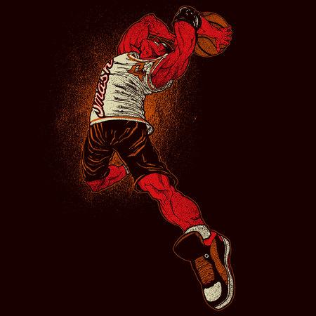 Angry basketball player