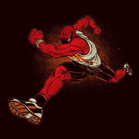 running: Angry running athlet