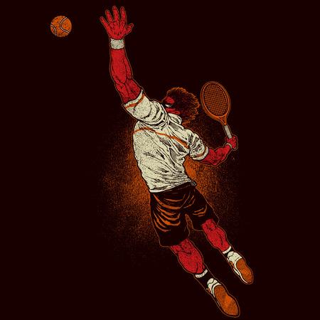 Angry tennis player Illusztráció
