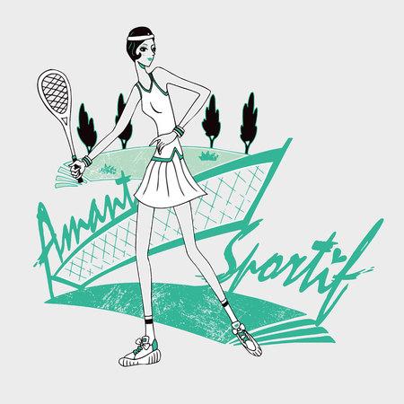 girl: Tennis girl