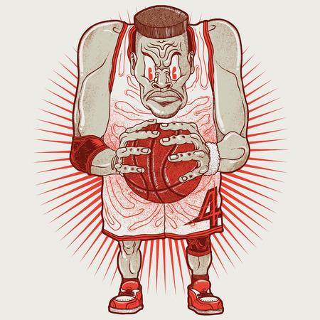 Aggressive basketball player