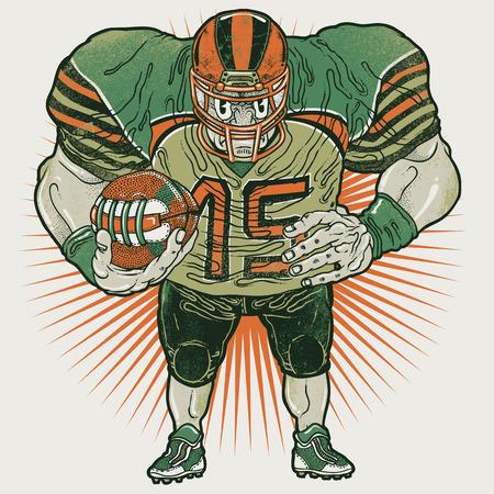 aggressive: Aggressive american football player