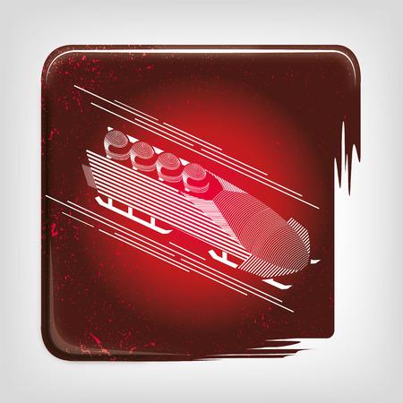 bobsleigh: Bobsleigh stripy icon