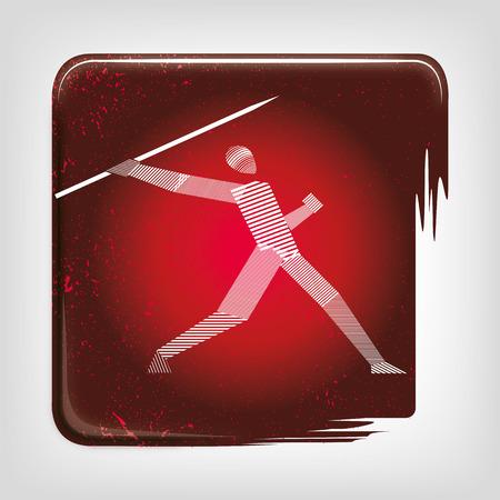 Javelin stripy icon