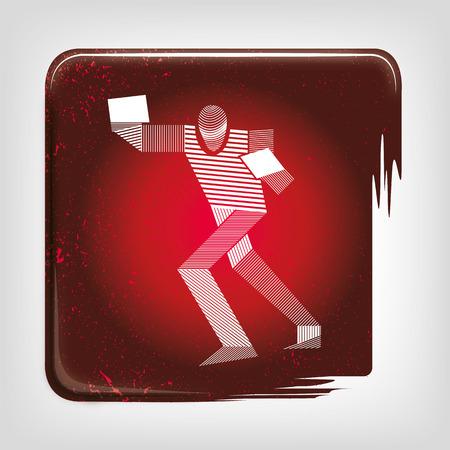 pugilist: Boxing icon stripy
