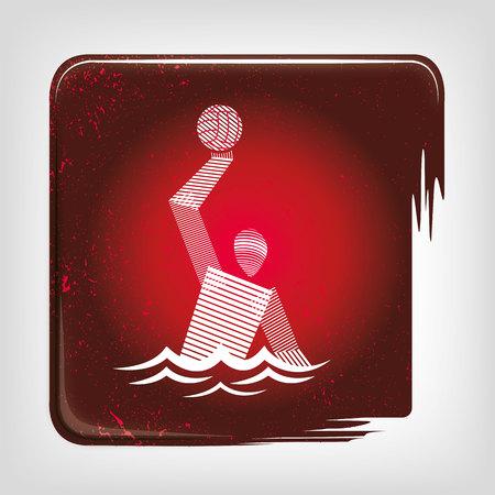 water polo: Water Polo stripy icon