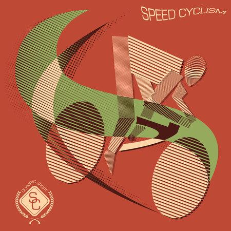 Stripy speed cyclist