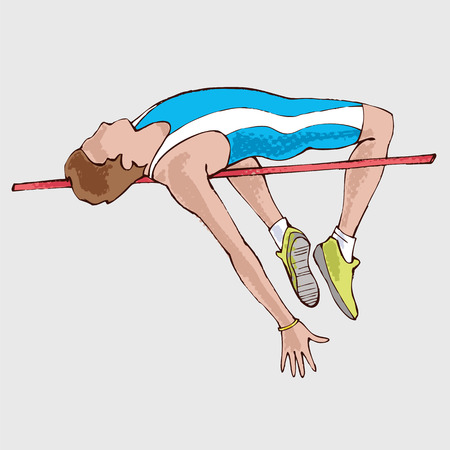 high jump: High jump athlet Illustration