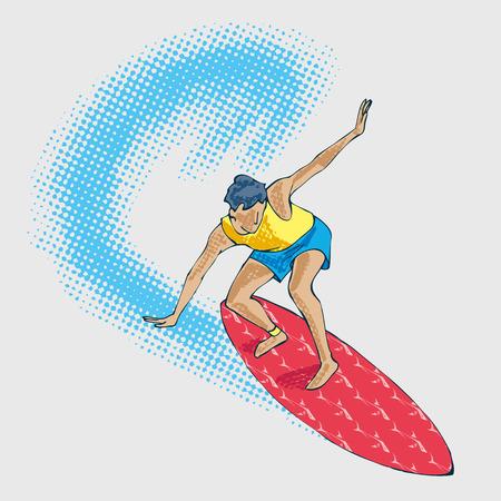 surf athlet Illustration