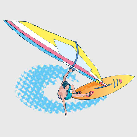 windsurfing: athlet windsurfing