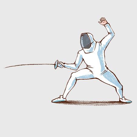 Fencing athlet