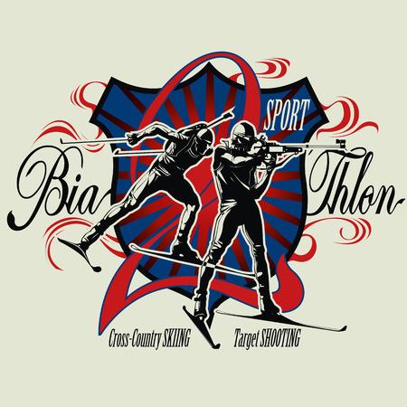 crosscountry: Biathlon badge with athletes