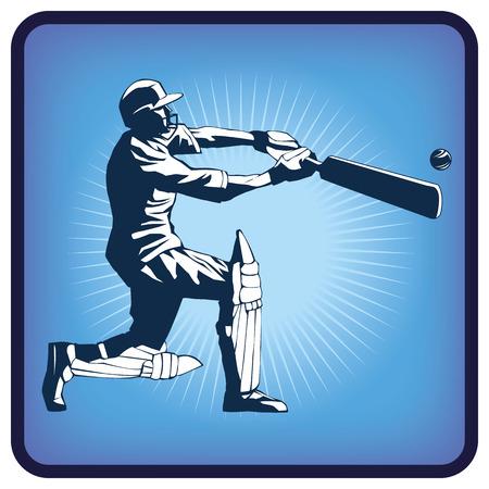 british culture: Graphics icon of cricket Illustration