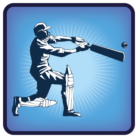 Graphics icon of cricket Illustration
