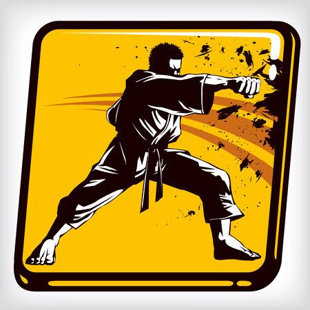 kungfu: Dynamic icon of martial art karate