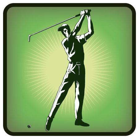Graphics icon of golf