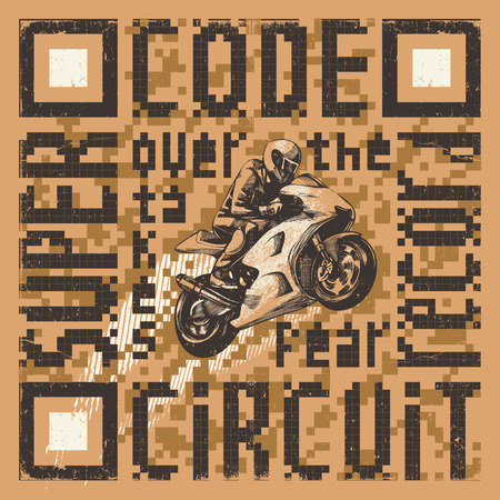 qr: QR code about motorcycling Illustration