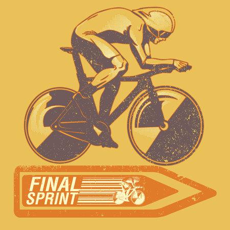 Speed ???? cycliste sur panneau routier modifié