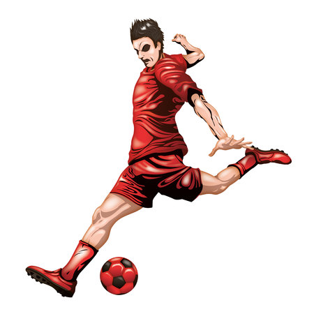 Red soccer player