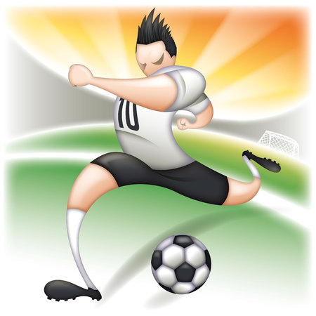Cartoon soccer player Illusztráció