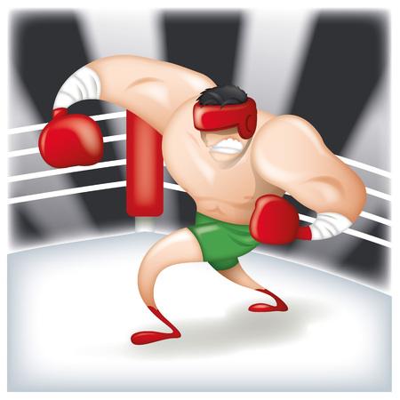 pugilist: pugilist cartoon Illustration
