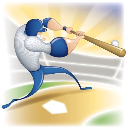 Cartoon baseball player Illusztráció