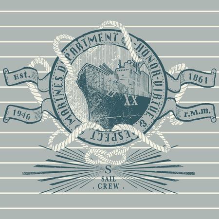 navy ship: Navy ship emblem