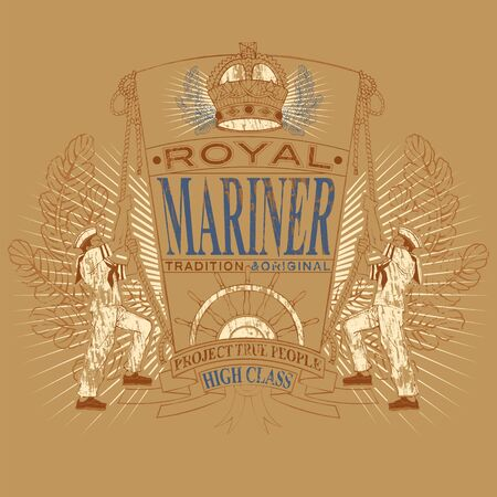 mariner: Mariner royal emblem with sailors