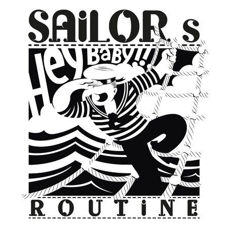 Sailor routine b / w