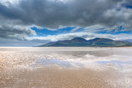 View from Murlough Beach with Mourne Mountains in the background, Newcastle, Northern Ireland