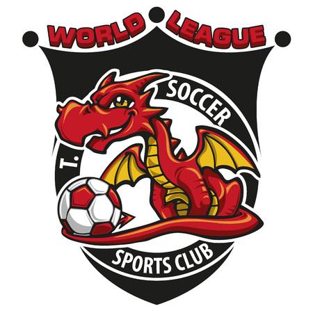 soccer: Soccer dragon Illustration