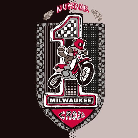 Illustration of a motocross coat of arms