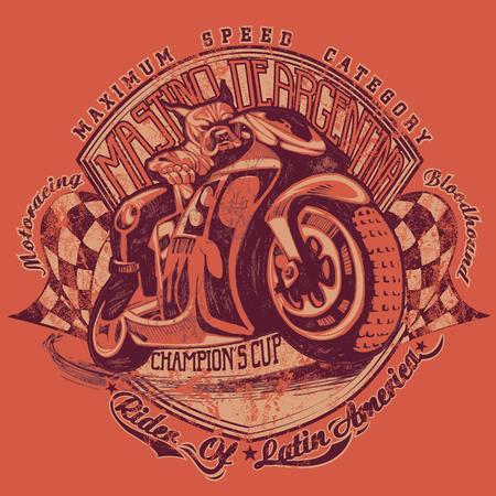 Illustration of a Mastiff biker Illustration