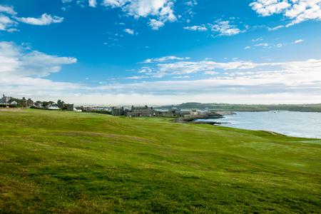 Golf club green in the morning, Ardglass, Northern Ireland
