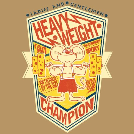 heavy weight: Illustration of a heavy weight champion mouse
