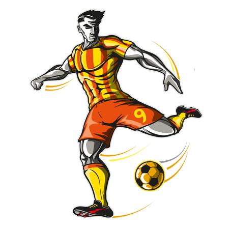 Soccer player kick